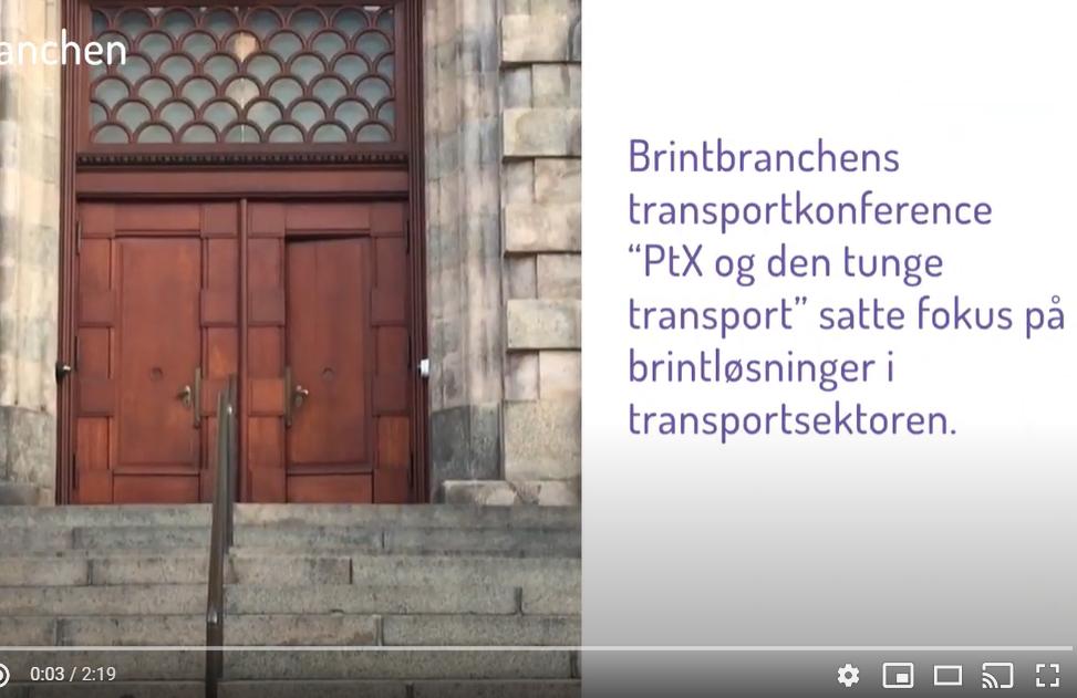 Video: Brintbranchens transportkonference
